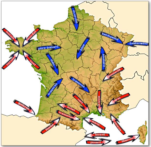 Carte Des Vents De La France | popkensburg